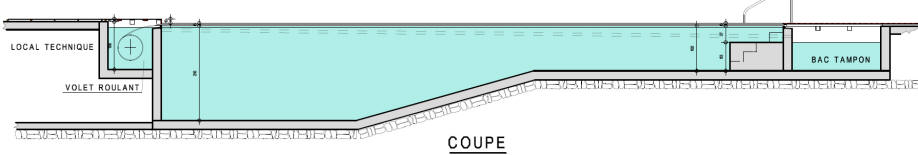 Piscine d bordement plan for Principe piscine a debordement